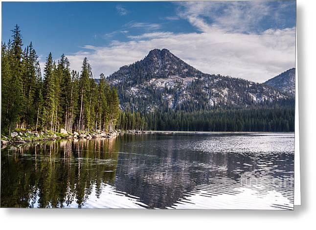 Lake Reflection Greeting Card by Robert Bales