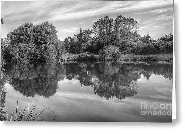 Northamptonshire Greeting Cards - Lake Reflections Greeting Card by Jeremy Hayden