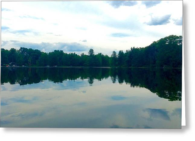 Indiana Springs Digital Art Greeting Cards - Lake Reflections Greeting Card by Jeszy Arnold