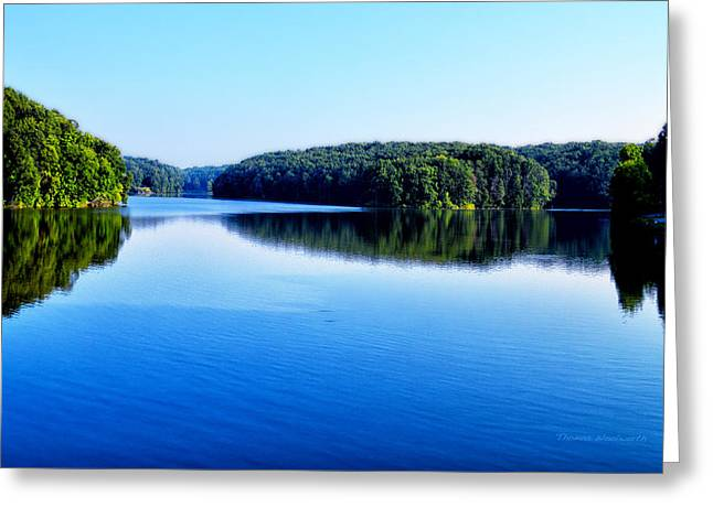 Surreal Landscape Greeting Cards - Lake Reflections Greeting Card by Thomas Woolworth