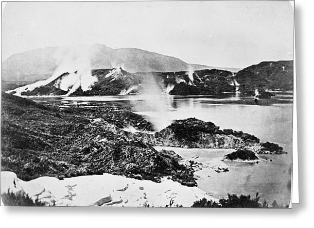 Australasia Greeting Cards - Lake Rotomahana, New Zealand Greeting Card by Science Photo Library