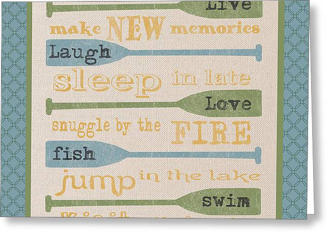 Flour Greeting Cards - Lake Rules-D Greeting Card by Jean Plout