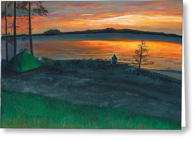 Lake Saimaa In Finland Greeting Card by Phillip Compton