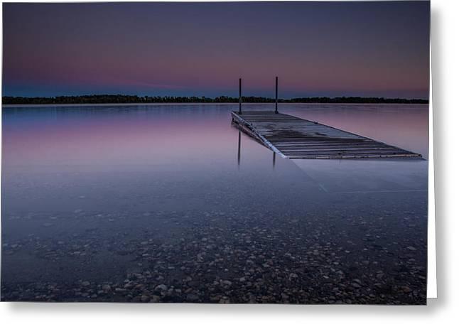 Lee Greeting Cards - Lake Shaokatan Greeting Card by Aaron J Groen