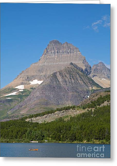 Lake Sherburne In Glacier National Park Greeting Card by Natural Focal Point Photography