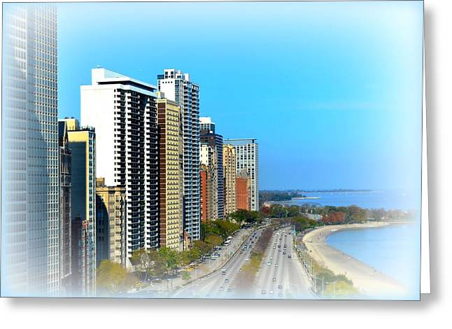 Faa Featured Greeting Cards - Lake Shore Drive Greeting Card by Toni Abdnour