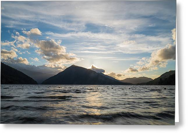 Lake Side Greeting Card by Kristopher Schoenleber