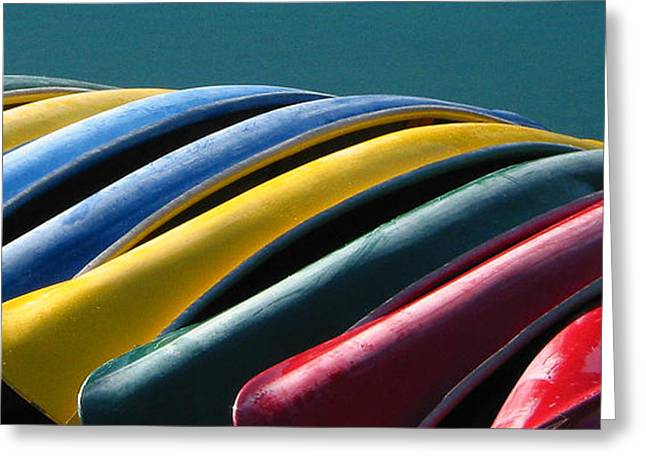 Canoe Greeting Cards - Lake Side Rest Greeting Card by Kurt Gustafson
