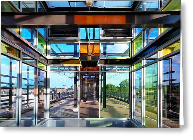 Minneapolis Greeting Cards - Lake Street Rail Station Greeting Card by Jim Hughes
