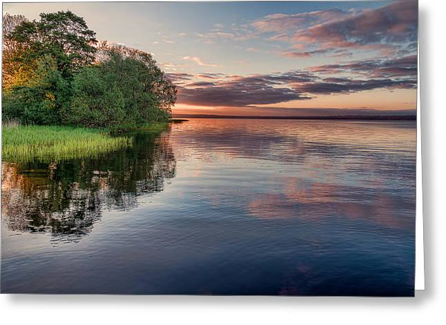 Mood Greeting Cards - Lake Sunrise Greeting Card by EXparte SE