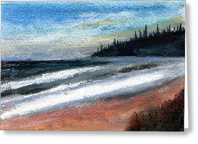Agate Beach Greeting Cards - Lake Superior Beach Greeting Card by R Kyllo