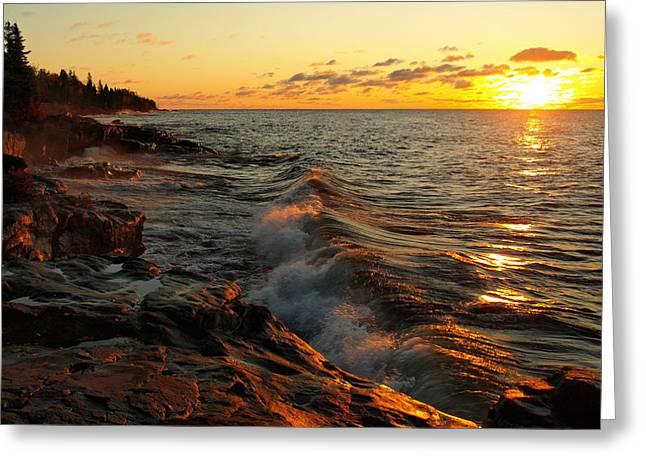 Peterson Nature Photography Greeting Cards - Lake Superior Dawn Greeting Card by Jim Peterson
