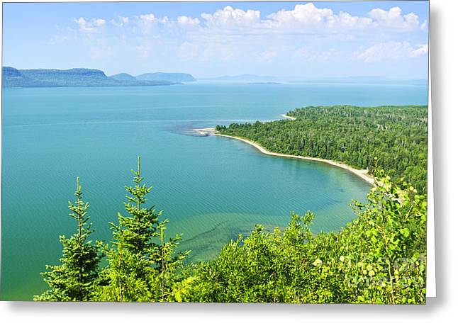 Blue Green Water Greeting Cards - Lake Superior Greeting Card by Elena Elisseeva