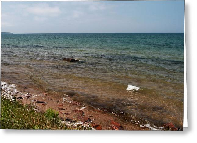 The Great Lakes Greeting Cards - Lake Superior From Marquette Michigan Greeting Card by Dan Sproul