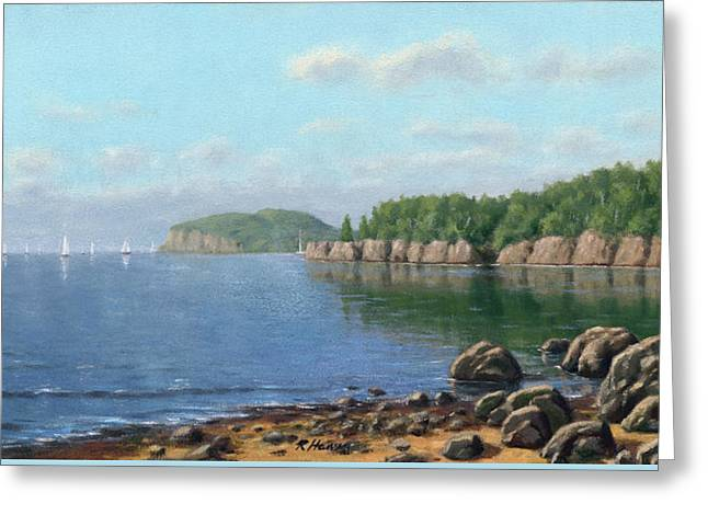 Breezy Greeting Cards - Lake Superior Greeting Card by Rick Hansen