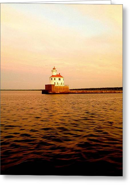 Lake Superior Serenity  Greeting Card by Danielle  Broussard