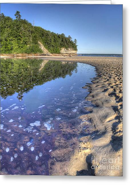 Superior Sunrise Greeting Cards - Lake Superior Shoreline at Pictured Rocks Greeting Card by Twenty Two North Photography