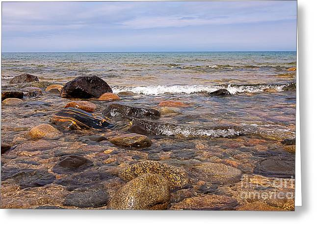 Agate Beach Greeting Cards - Lake Superior Splendor Greeting Card by Deb Koskovich