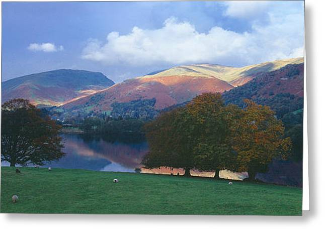 The Hills Greeting Cards - Lake Surrounded By Mountains, Grasmere Greeting Card by Panoramic Images
