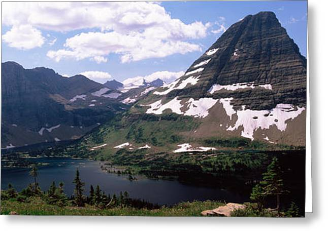 Geology Photographs Greeting Cards - Lake Surrounded With Mountains, Bearhat Greeting Card by Panoramic Images