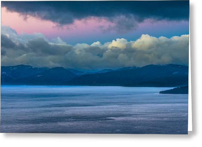 Incline Greeting Cards - Lake Tahoe Daybreak Greeting Card by Marc Crumpler