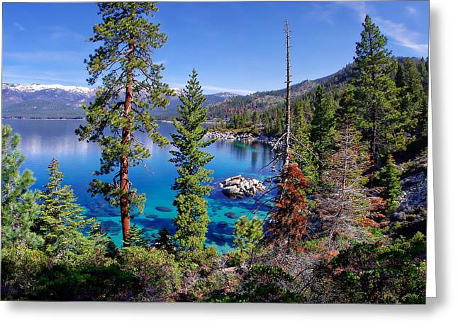 California Lakes Greeting Cards - Lake Tahoe Eastern Shore Greeting Card by Scott McGuire