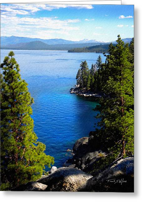 Clean Water Greeting Cards - Lake Tahoe From The Rubicon Trail Greeting Card by Frank Wilson