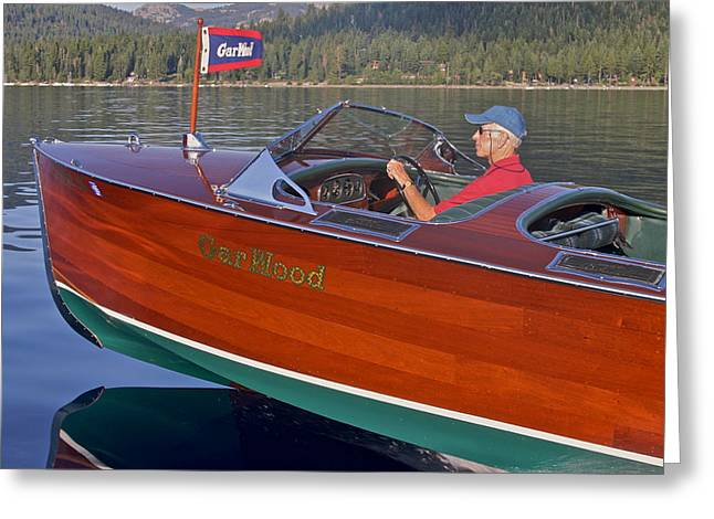 Mahogany Greeting Cards - Lake Tahoe Gar Wood Greeting Card by Steven Lapkin