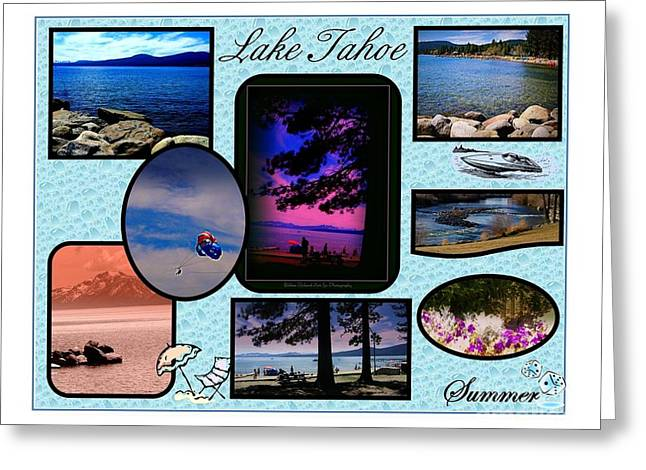 Lake Tahoe In Summer Poster Greeting Card by Bobbee Rickard