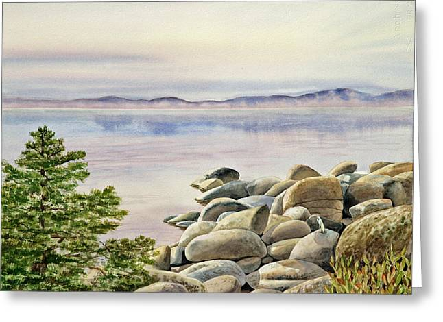 Lake Tahoe Greeting Card by Irina Sztukowski