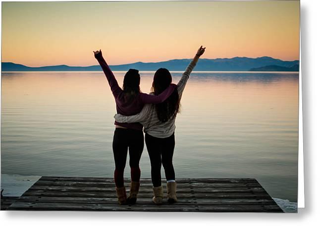 Heart Lake Greeting Cards - Lake Tahoe  Greeting Card by Justin Matoi