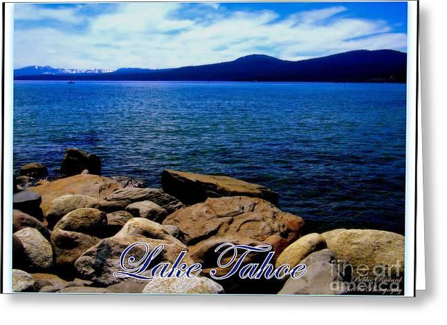 Print On Acrylic Greeting Cards - Lake Tahoe Magic Greeting Card by Bobbee Rickard