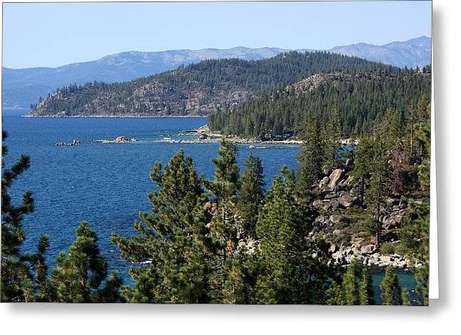 Moran Greeting Cards - Lake Tahoe Nevada Greeting Card by Aidan Moran