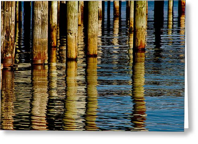 Pier Pilings Greeting Cards - Lake Tahoe Reflection Greeting Card by Bill Gallagher