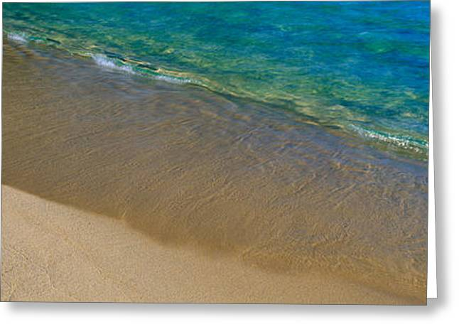 Rural Landscapes Greeting Cards - Lake Tahoe Shoreline, California Greeting Card by Panoramic Images