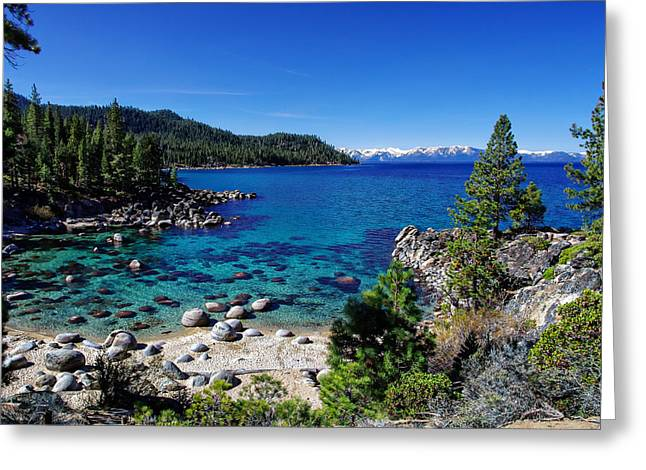 Blue Green Water Photographs Greeting Cards - Lake Tahoe Springscape Greeting Card by Scott McGuire
