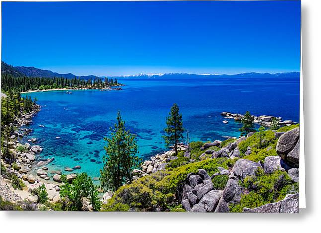 Blues Greeting Cards - Lake Tahoe Summerscape Greeting Card by Scott McGuire