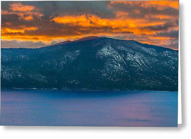 Lake Tahoe Sunrise Greeting Card by Marc Crumpler