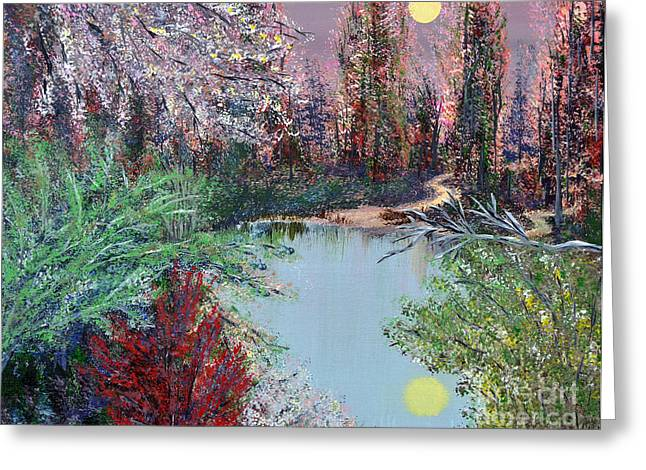 Southern Indiana Greeting Cards - Lake Tranquility Greeting Card by Alys Caviness-Gober
