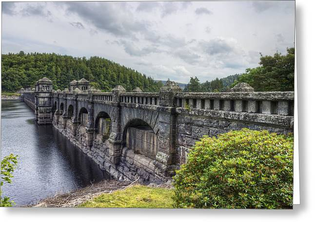 Wales Framed Prints Greeting Cards - Lake Vyrnwy Dam Greeting Card by Ian Mitchell