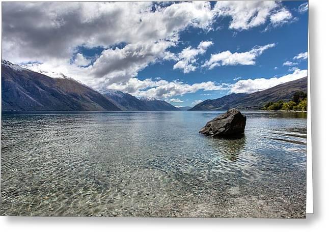 Shari Mattox Greeting Cards - Lake Wakatipu Greeting Card by Shari Mattox