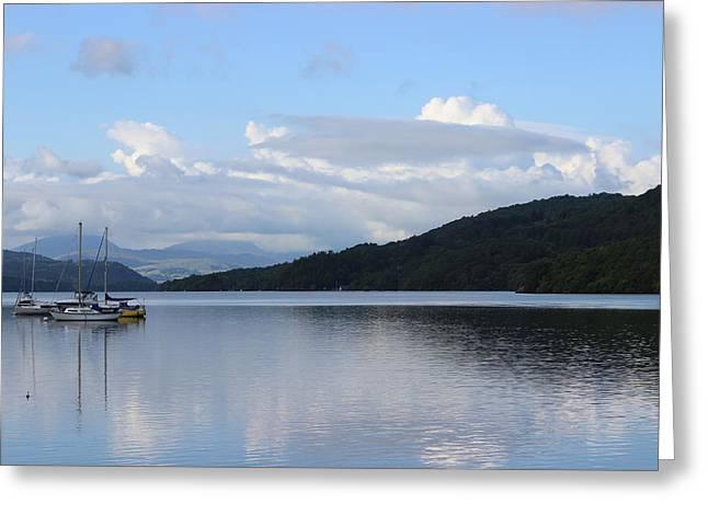Lake Artwork Greeting Cards - Lake Windermere Greeting Card by Martin Newman