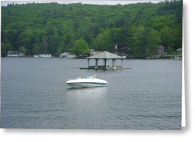 Covered Barge Greeting Cards - Lake Winnipesaukee 2011 Greeting Card by James Turnbull