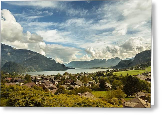 Austria Greeting Cards - Lake Wolfgang Greeting Card by Chris Fletcher