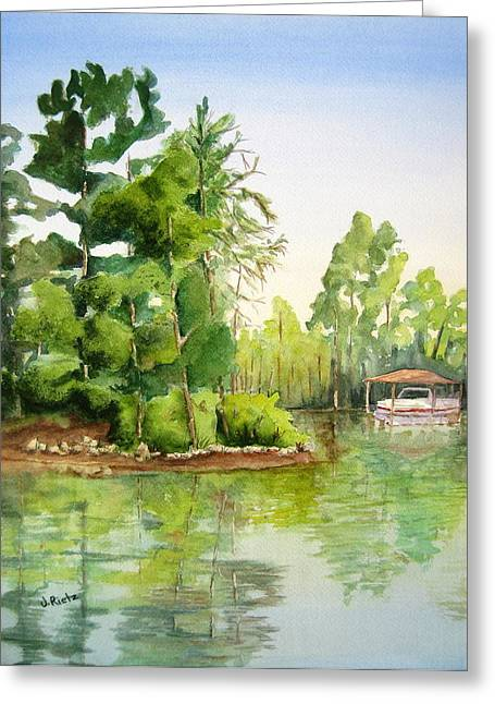 Lake Wylie Greeting Cards - Lake Wylie Cove Greeting Card by Julia Rietz