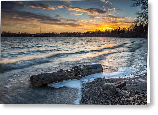 Lake Yankton Minnesota Greeting Card by Aaron J Groen