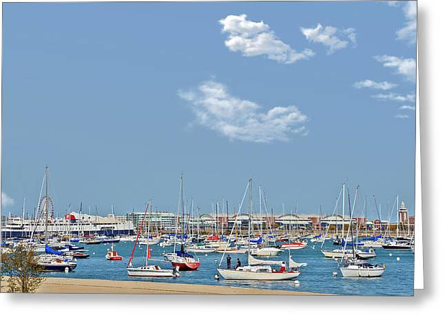 Interior Scene Greeting Cards - Lakefront Chicago Greeting Card by Christine Till