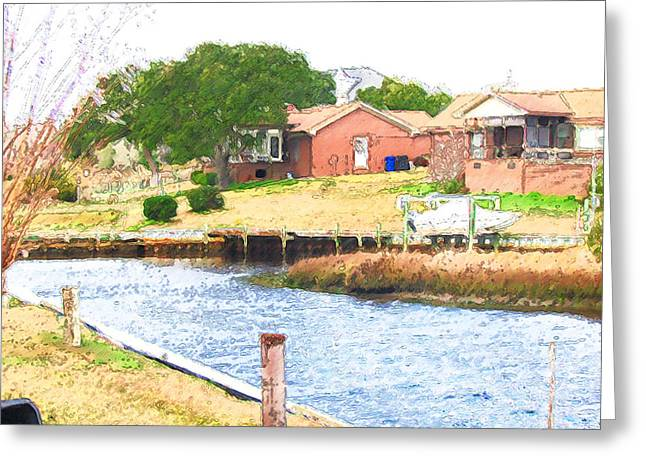Residential Structure Greeting Cards - Lakefront home near Lake 1 Greeting Card by Lanjee Chee