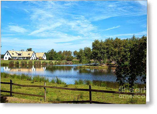 Exceptional Greeting Cards - Lakehouse Greeting Card by Antony McAulay