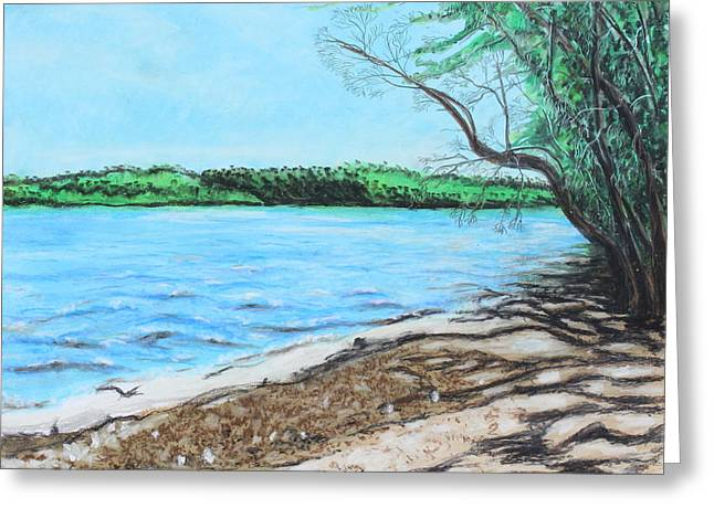 Serene Pastels Greeting Cards - Lakeland 4 Greeting Card by Jeanne Fischer